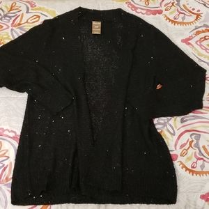 Like New! White Stag Black Open Front Sweater XL